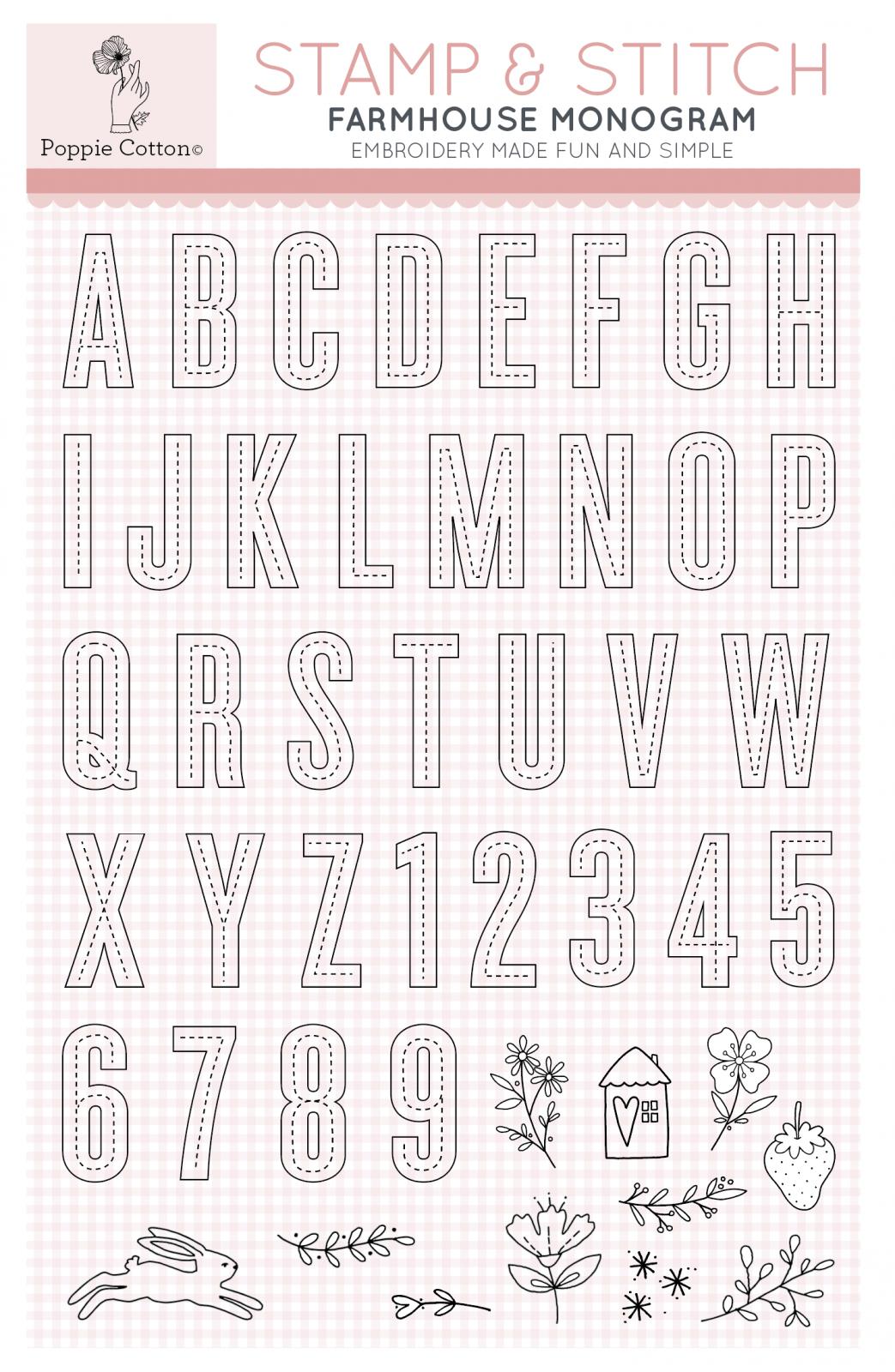 Stamp & Stitch Farmhouse Monogram