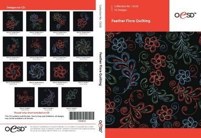 OESD Feather Flora Quilting