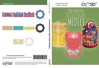 OESD Freestanding Tea Light Holders Medley