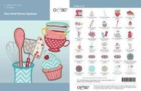 OESD Retro Mod Kitchen Applique