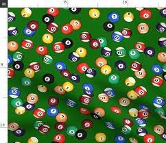 Green Billiards balls allover