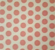 Red Rooster cream with pink dots 4384 24114