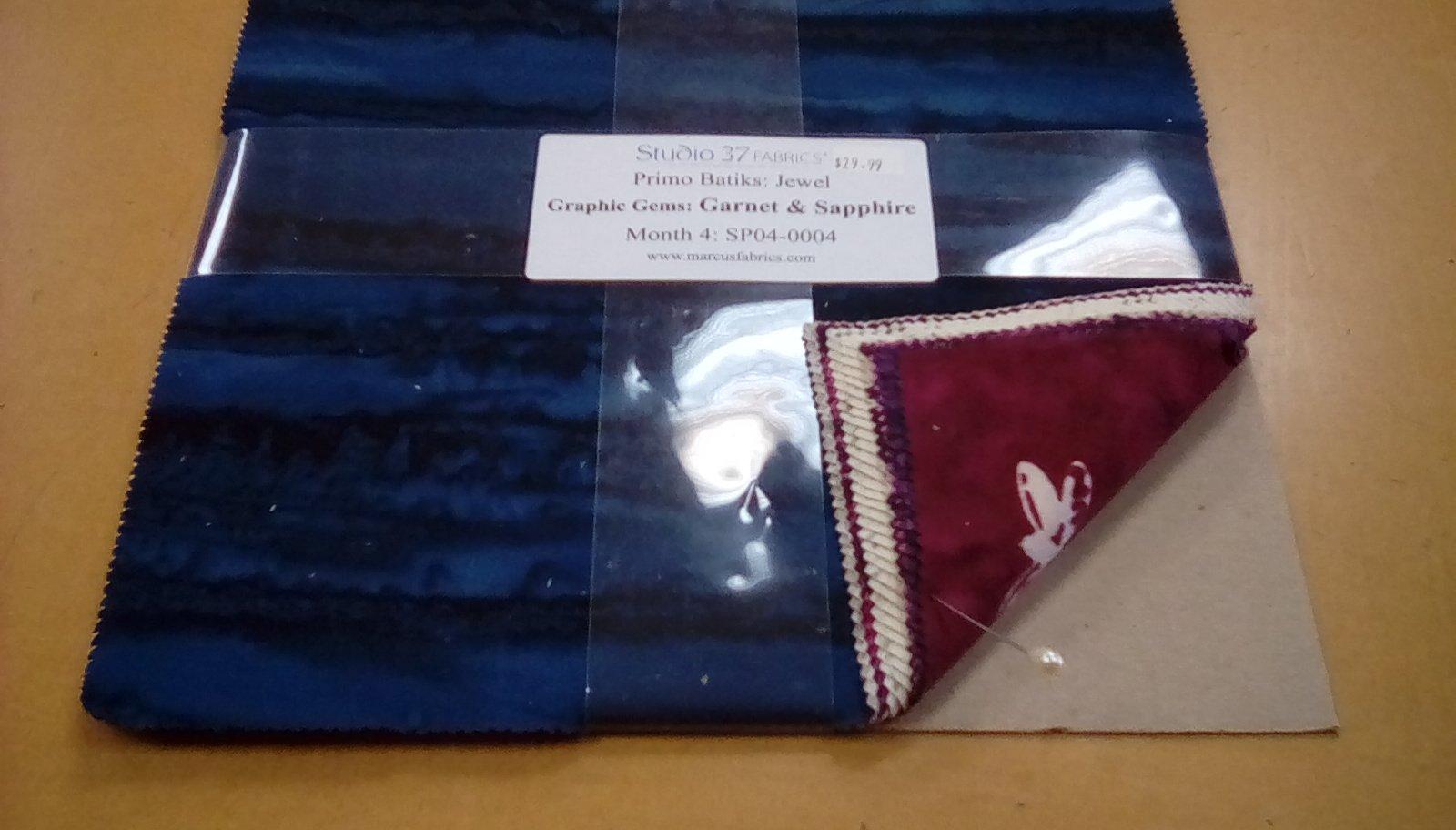 Primo Batiks:Jewel Graphic Gems: Garnet & Sapphire Month 4