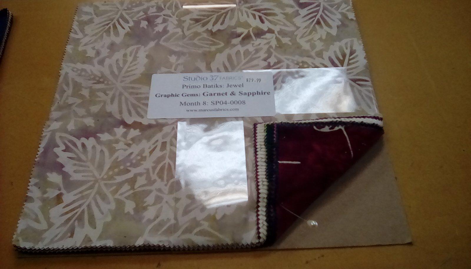 Primo Batiks:Sea Graphic Gems:Lapis & Emerald Month  2