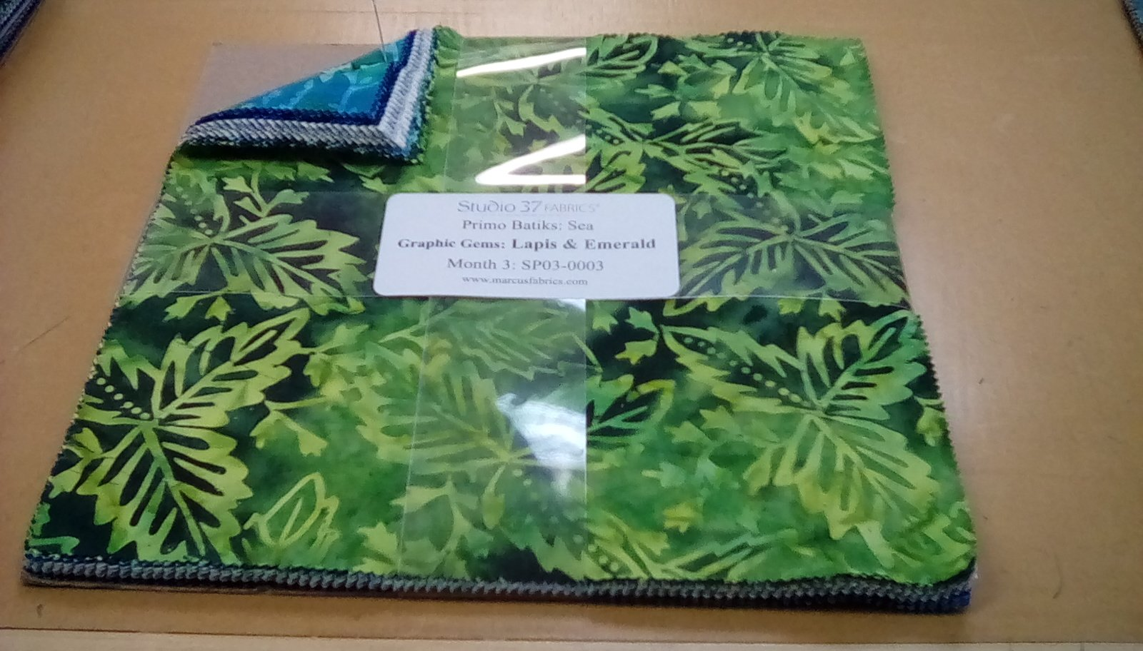 Primo Batiks:Sea Graphic Gems:Lapis & Emerald Month   3
