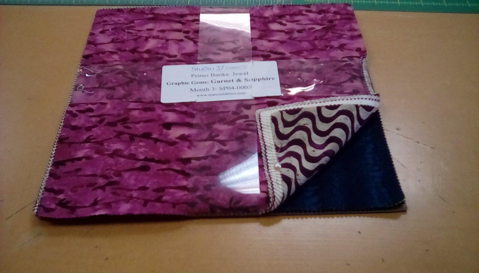 Primo Batiks:Jewel Graphic Gems: Garnet & Sapphire Month 3