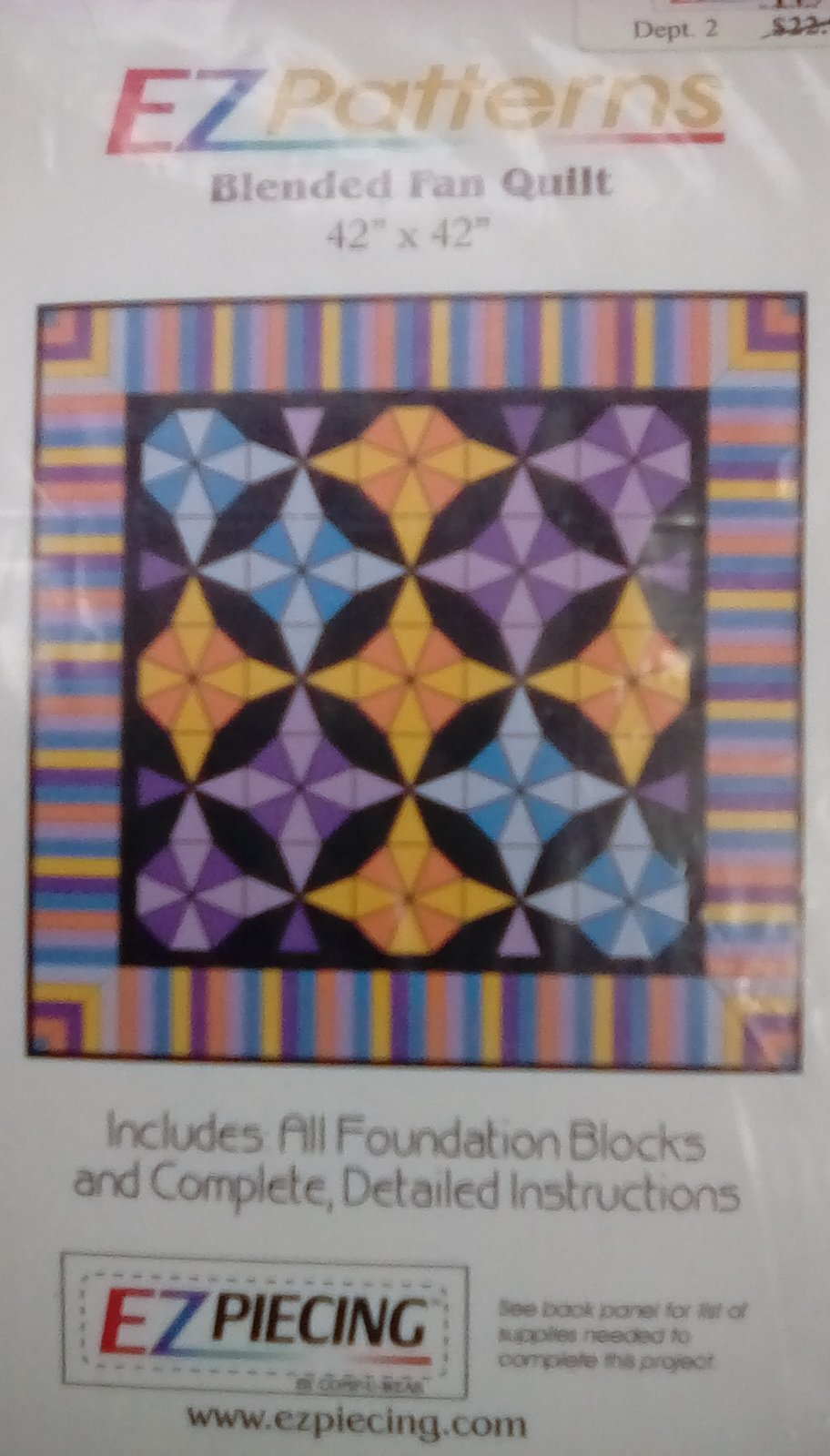 Blended Fan Quilt EZ pattern