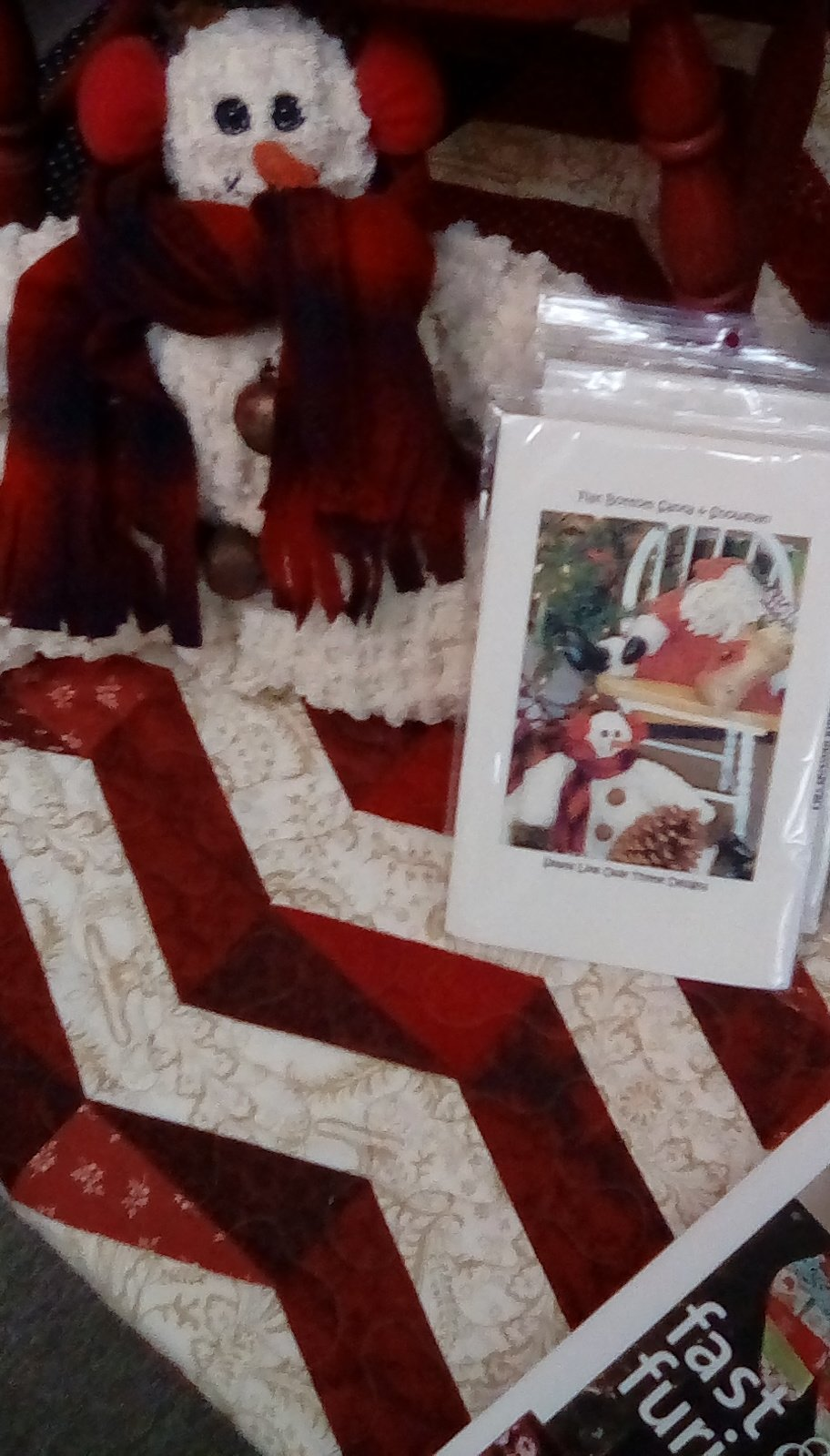 Flat Bottom Santa and Snowman