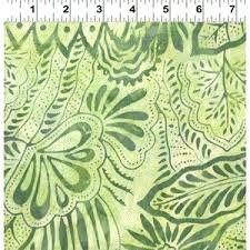 Fresh Batiks Botanica 4 FB027-23 Light Olive