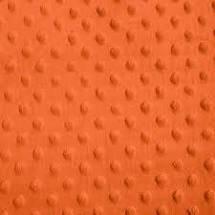 Orange Dimple Dot Cuddle Solid