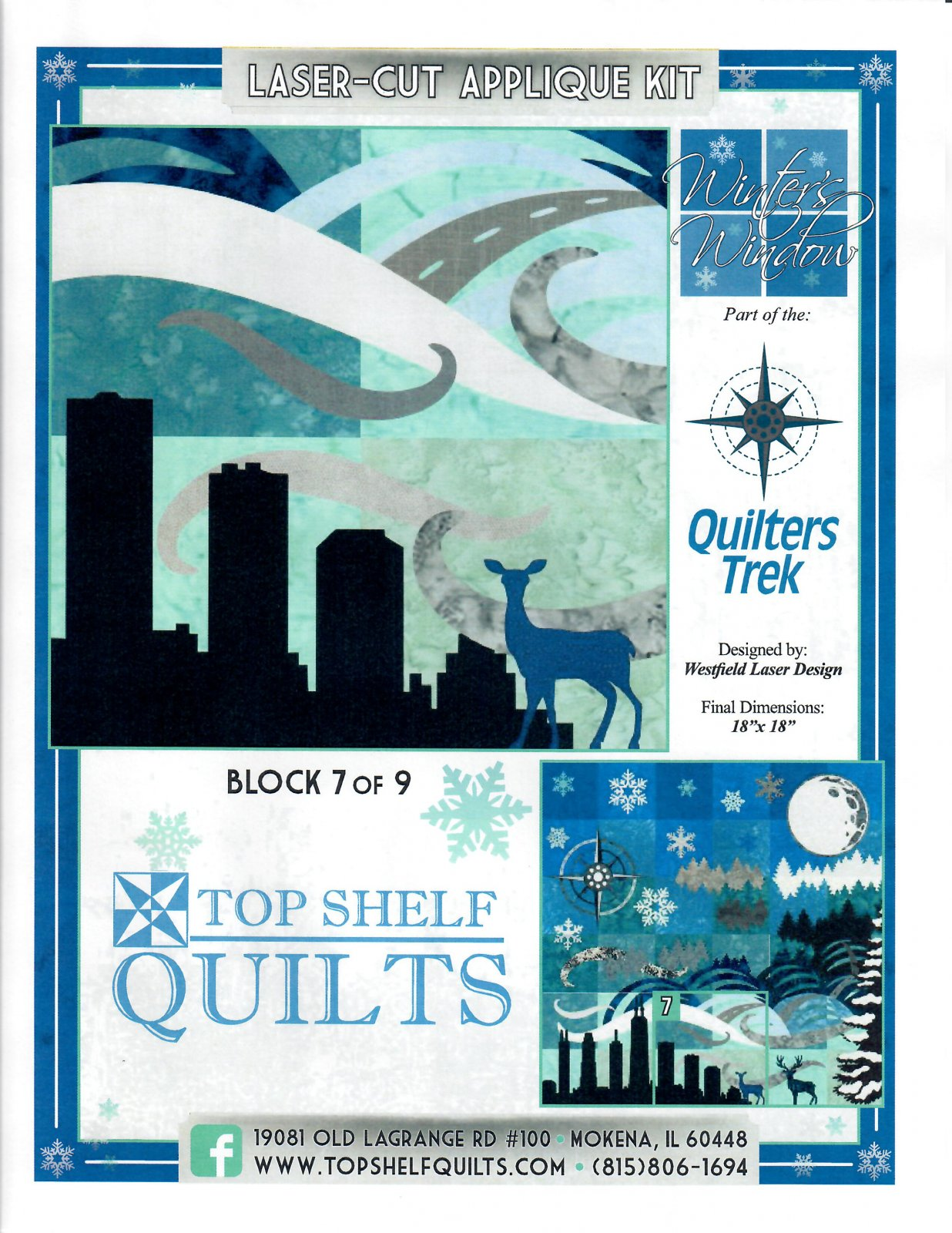 Quilter's Trek 2020 - Winter's Window - Block 7