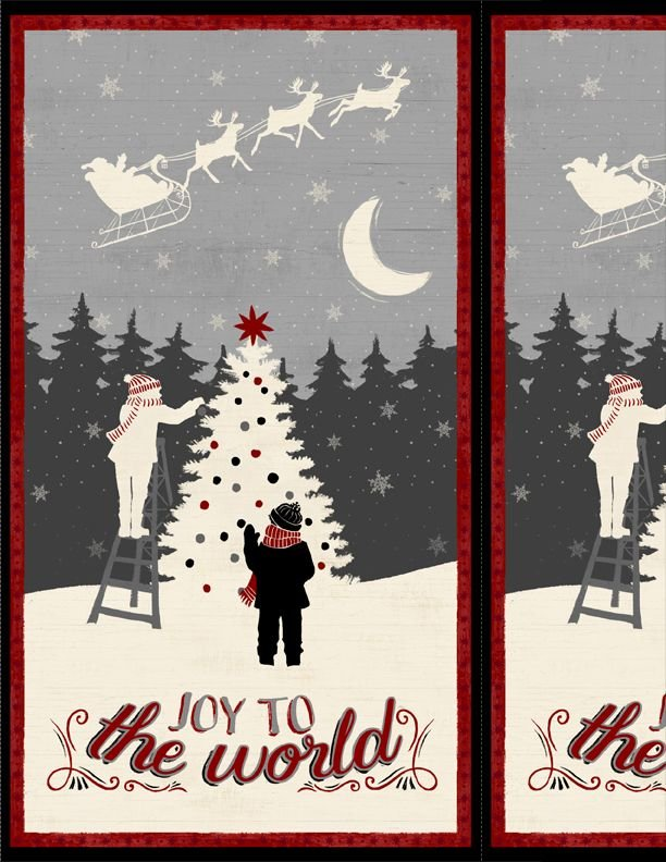 Holiday in the Woods Panel - Joy to the World