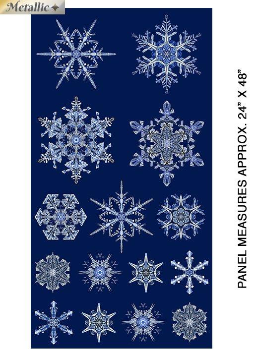 Artful Snowflake panel 6891M 55