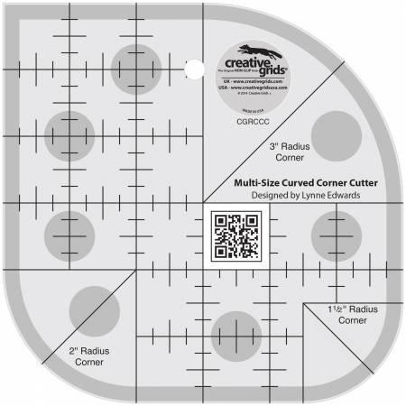 Creative Grids Non slip Multi size Curved Corner Cutter