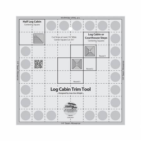 Creative Grids Log Cabin Trim Tool for 8in x 8in Finished Blocks