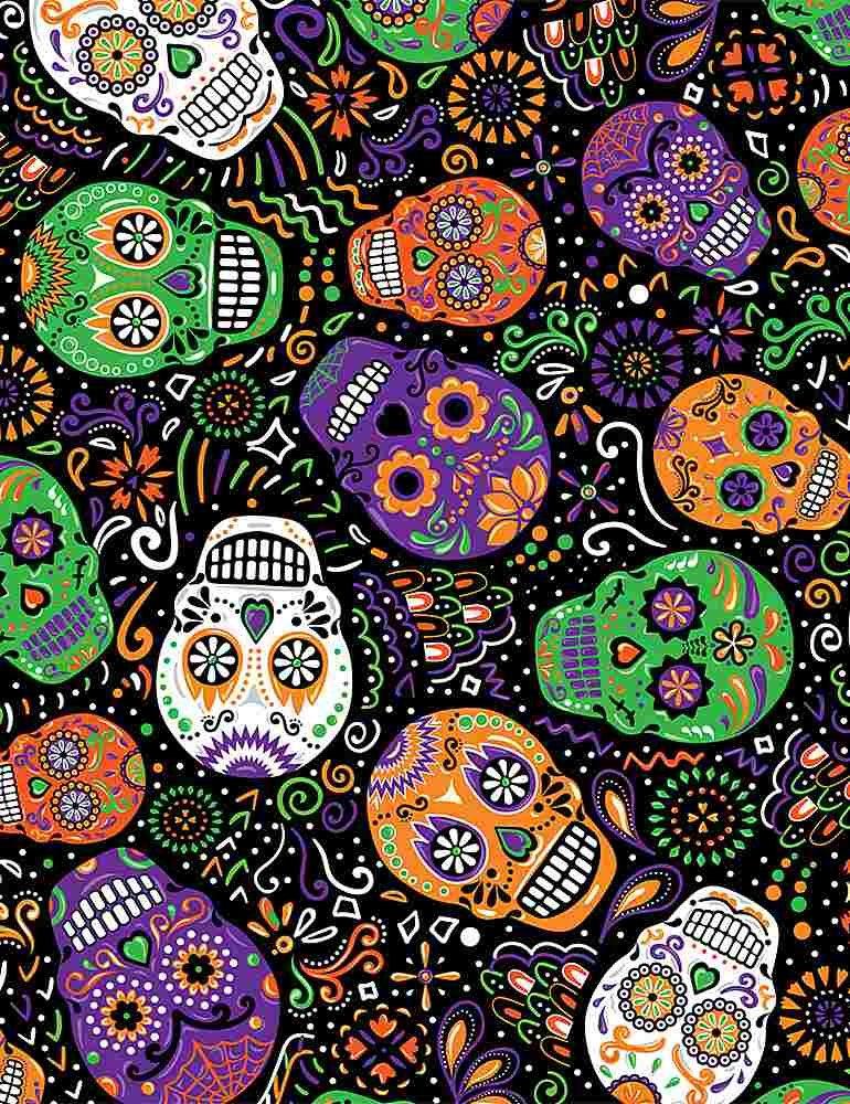 Mardi Gras Skulls C8664