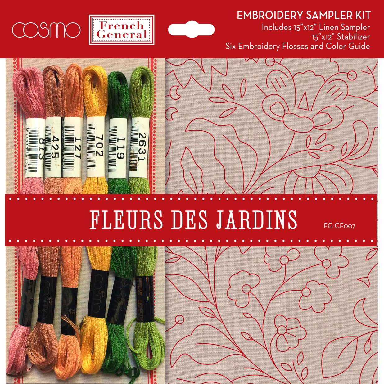 Fleurs De Jardins 15 x 12 kit FG CF 007