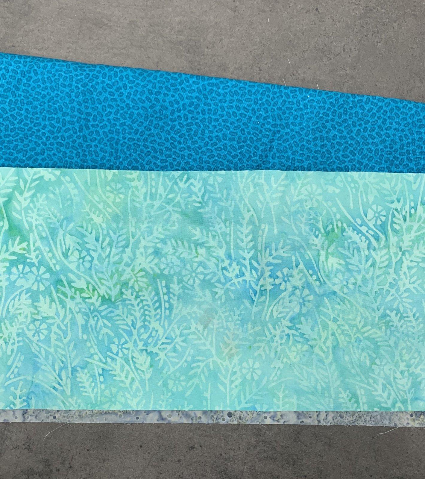 Batik Face Masks (makes 4-5) - Teal Blue