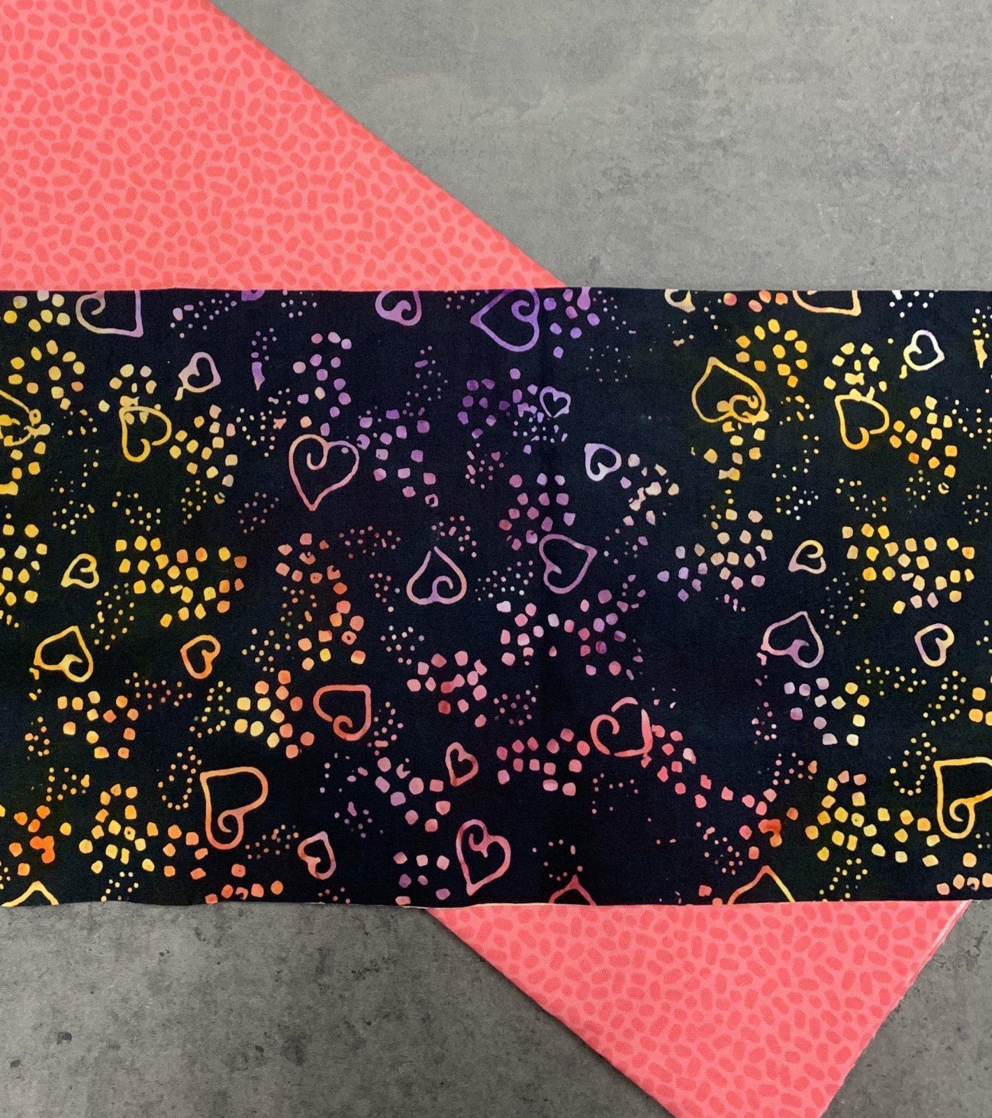 Batik Face Masks (makes 4-5) - Hearts