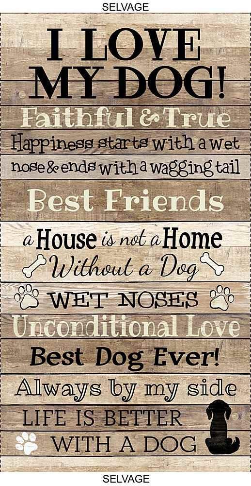 I Love My Dog Panel C8552