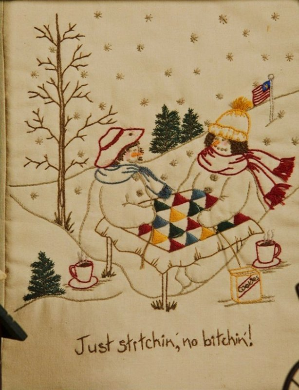 Quilting Snowladies Just Stitchin' No Bitchin