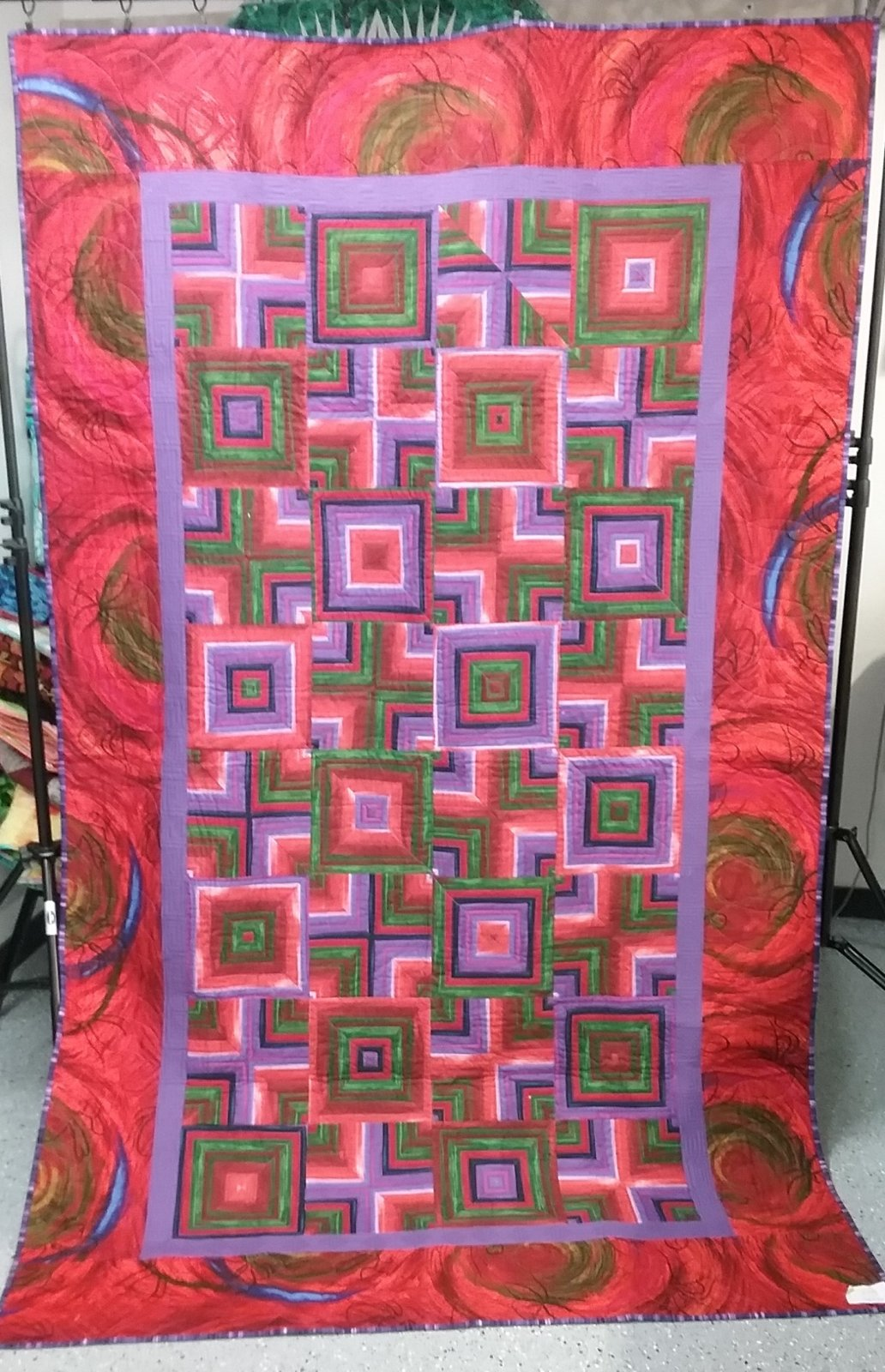 Floating Squares Finished Quilt