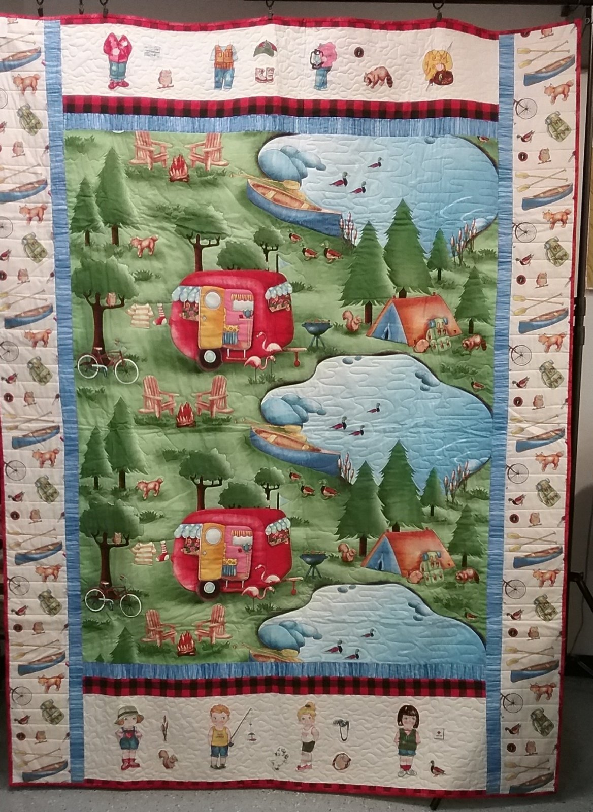 Camping Panel Finished Quilt