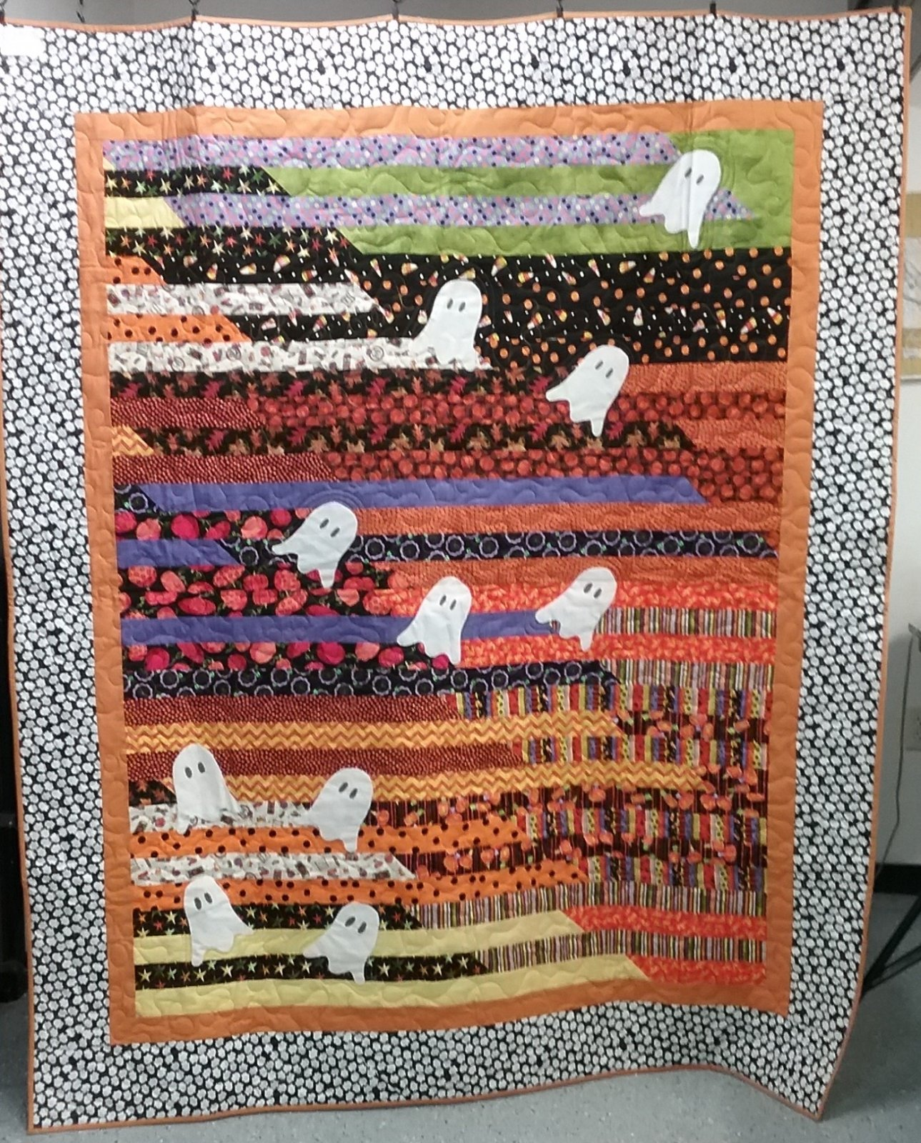 Boo! Finished Quilt