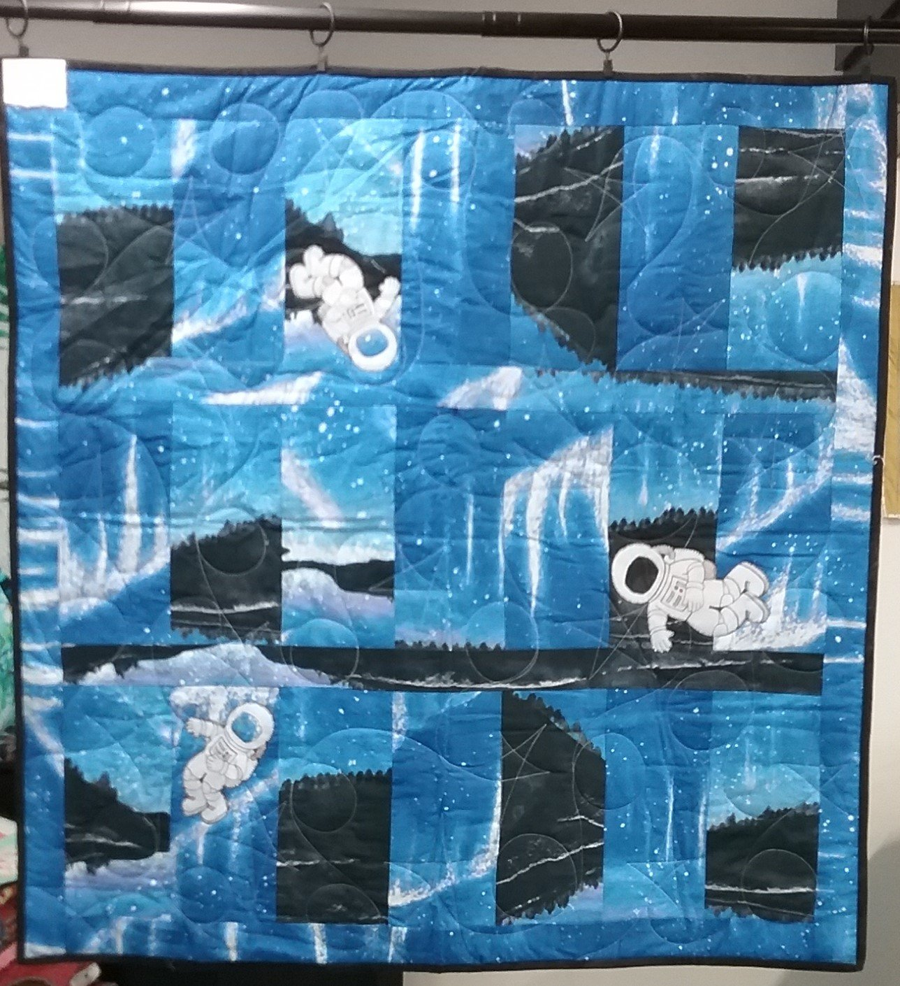 Blue Planet Finished Quilt