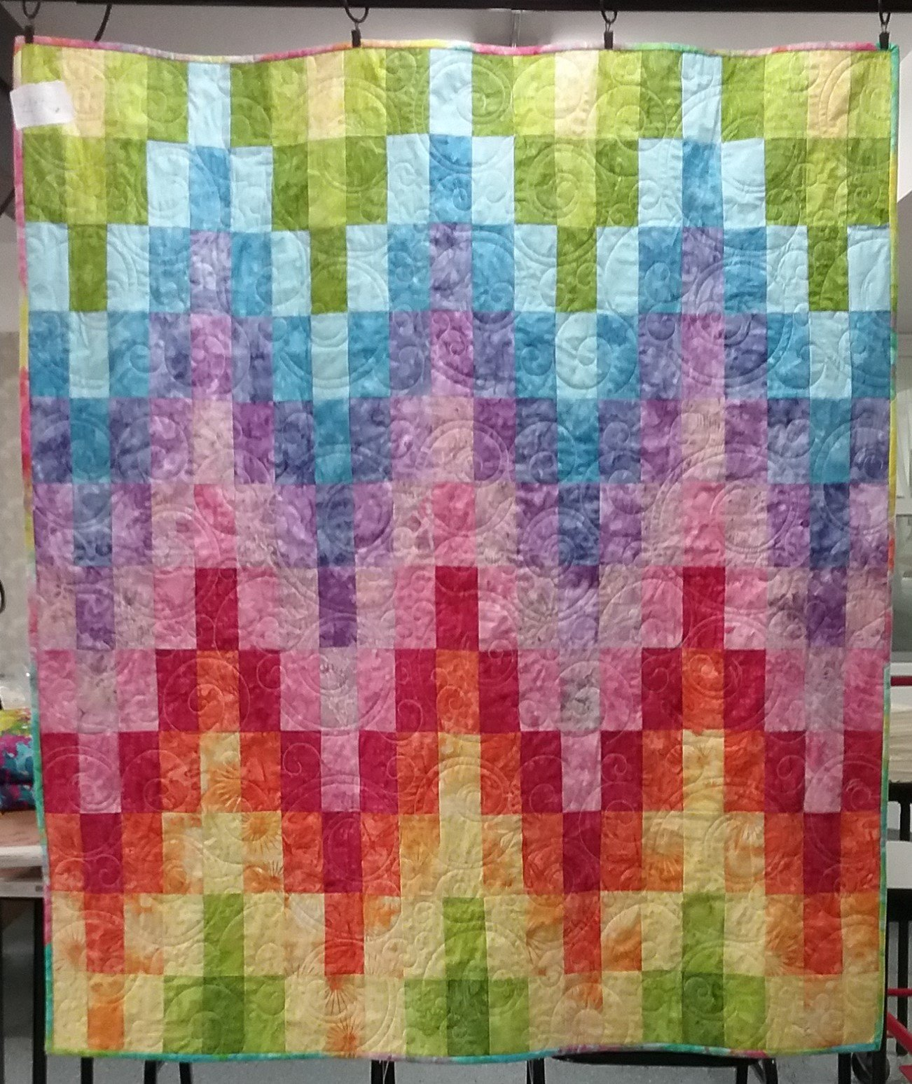 Baby Bargello Finished Quilt