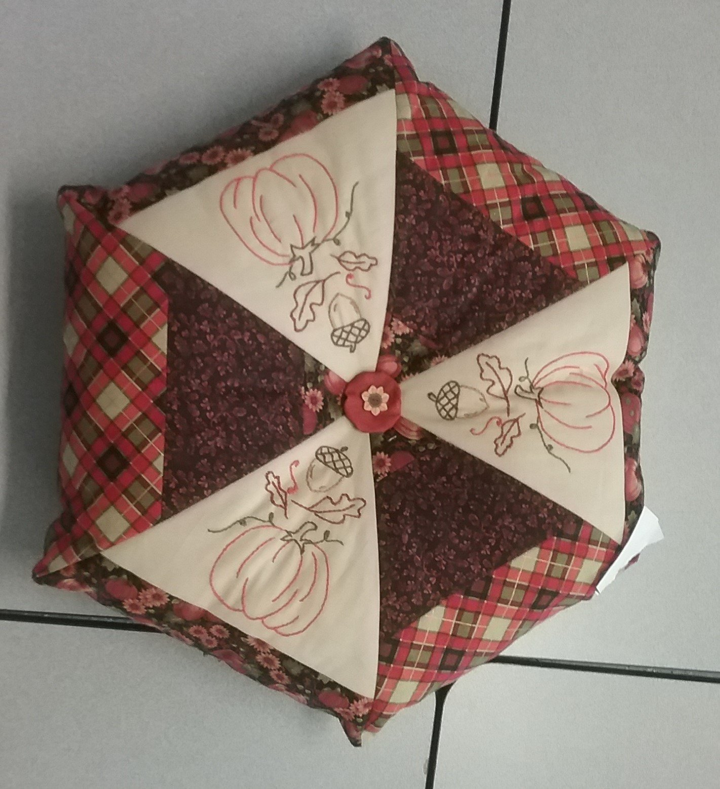 Fall Pillow Finished Sample