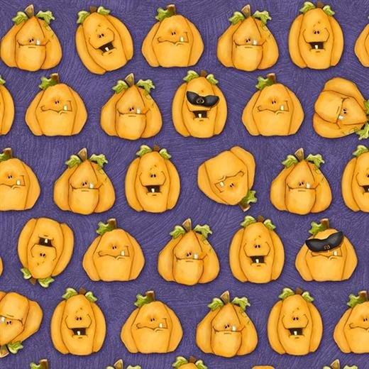 Toil TroublePumpkins Allover Purple