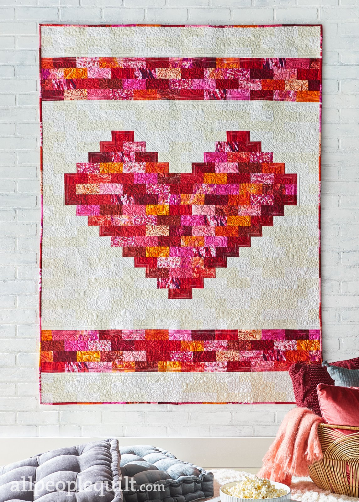 Kit 1048 Built On Love Quilt Sampler Magazine Quilt Kit