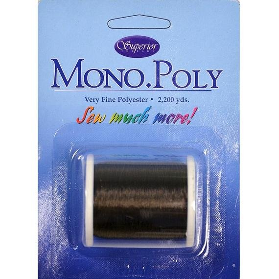 Mono Poly Polyester thread smoke