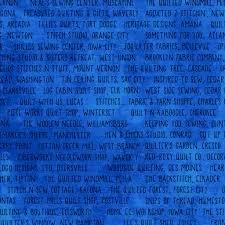 Sew Iowa Shop Hop -  Blue Shop Names