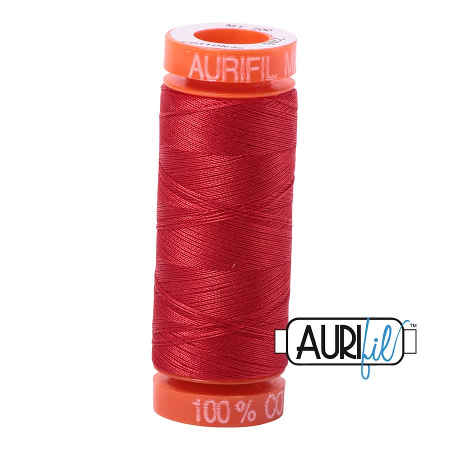 #2265 Lobster Red Aurifil Cotton Thread