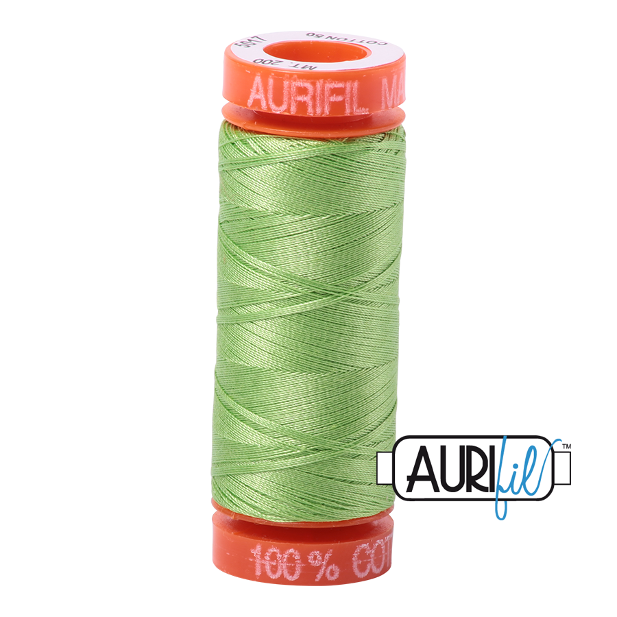 #5017 Shining Green Aurifil Cotton Thread