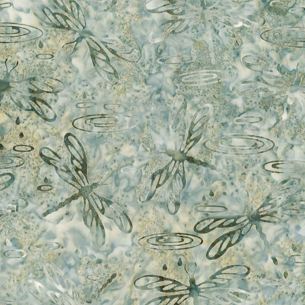 Cantik Batik Dragon Flies Grey Green