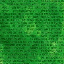 Sew Iowa Shop Hop -  Green Shop Names