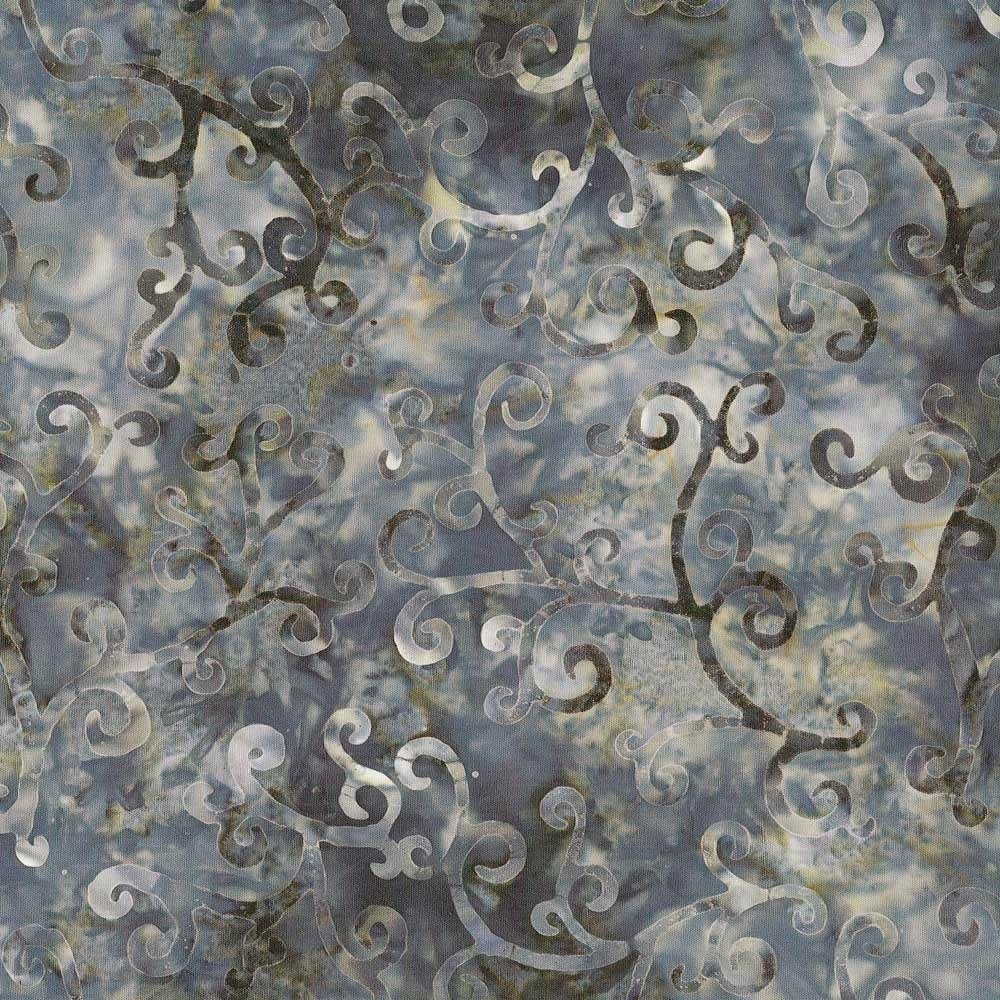 Dark Grey Flourish Batik