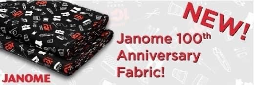 Janome 100th Anniversary Fabric