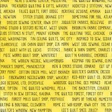 Sew Iowa Shop Hop -  Yellow Shop Names
