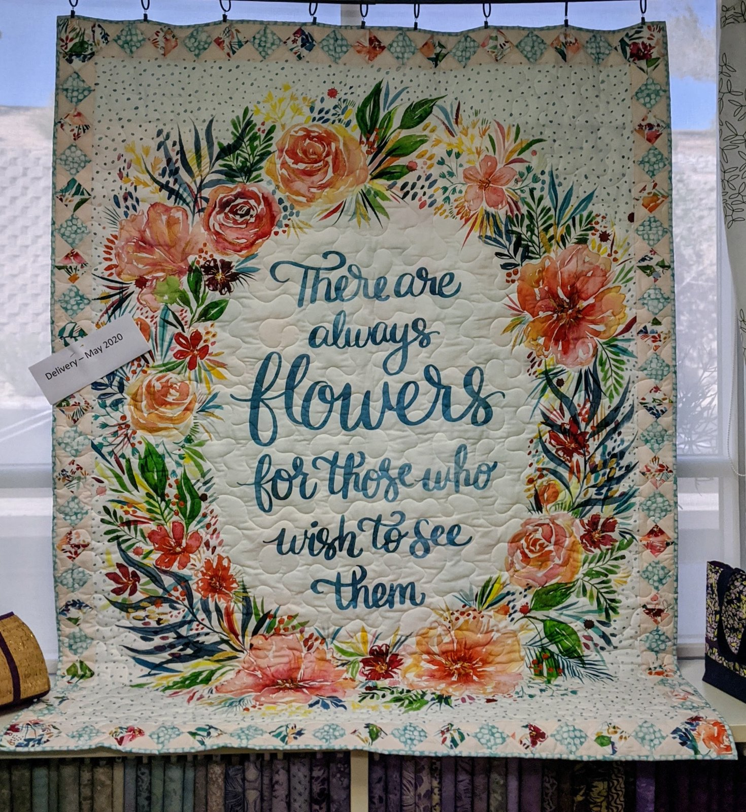 Brightly Blooming There are Always Flowers Panel