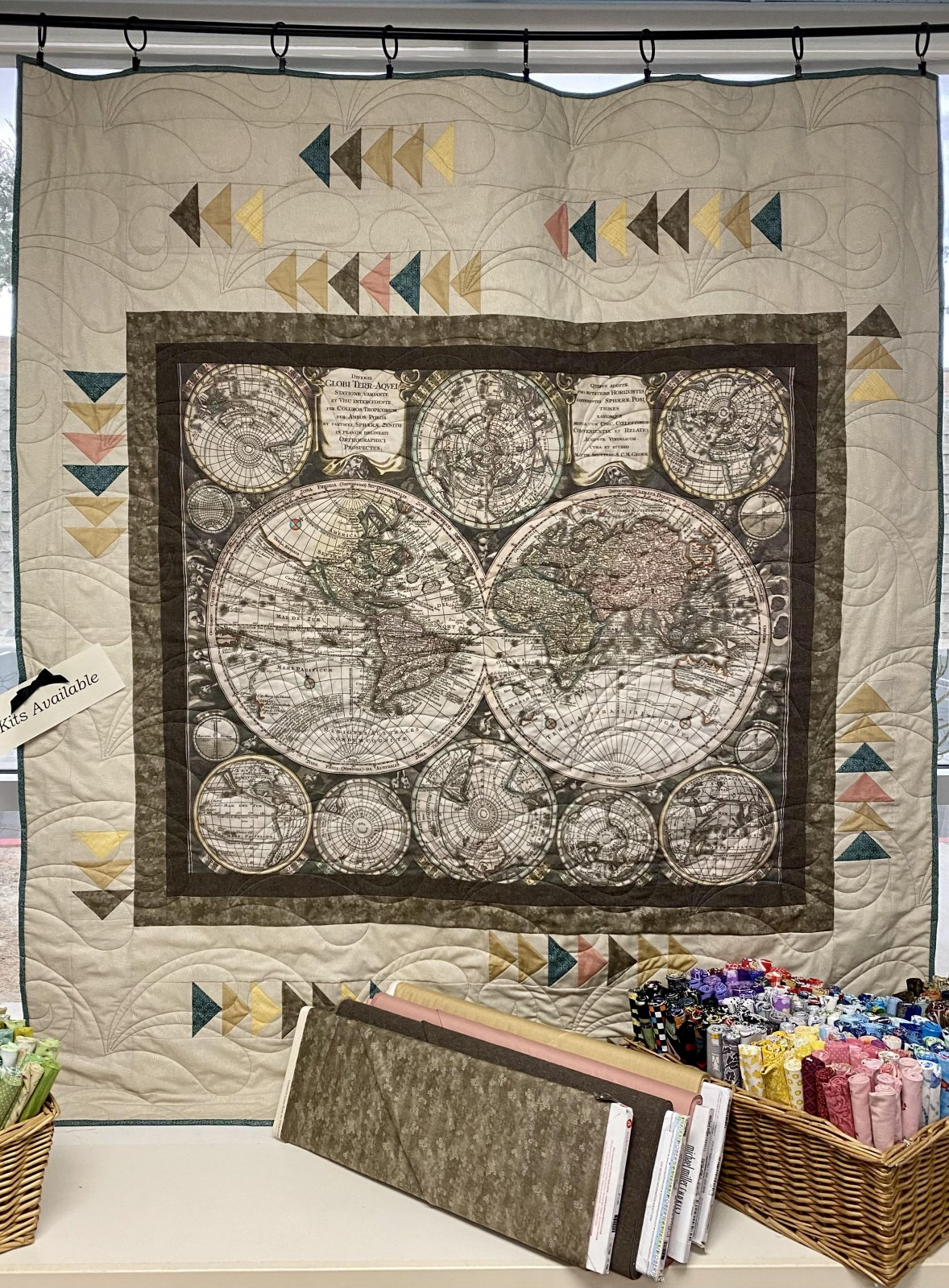 World Hemisphere Quilt Kit
