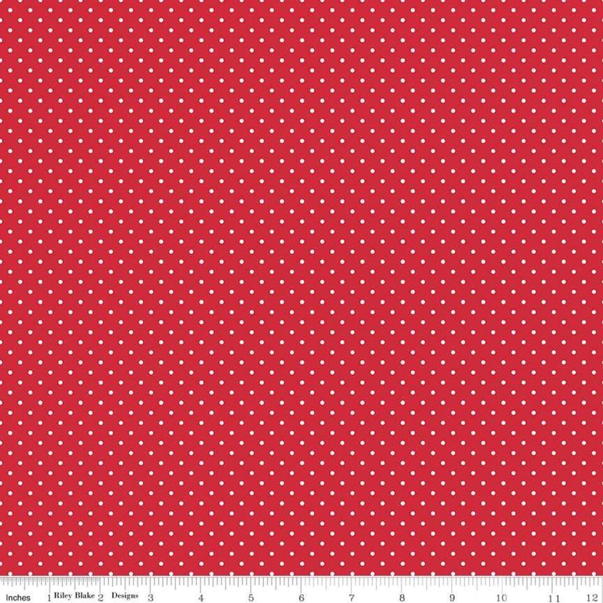 Swiss dot - red