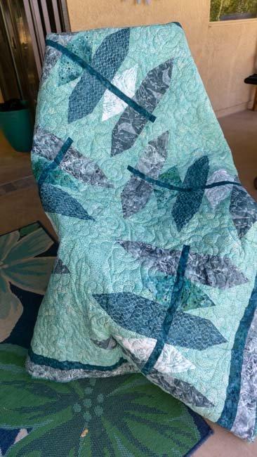 Batik Teal Green 53 x 60