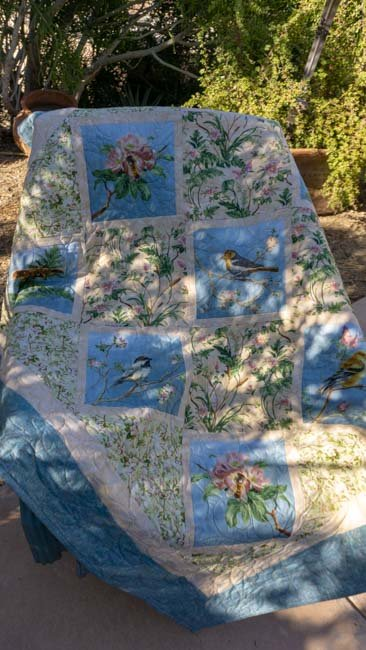 Birds, Butterfly's & Pillows 52 x 52 and 18 x 18