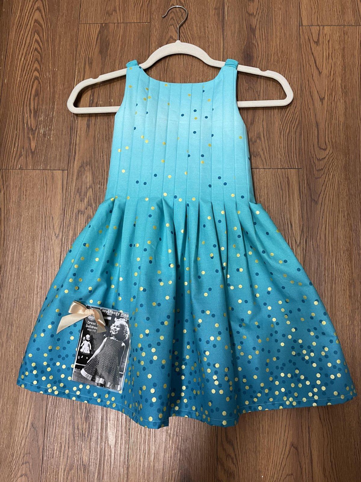 Easy Peazy Pleats Dress & Doll Dress