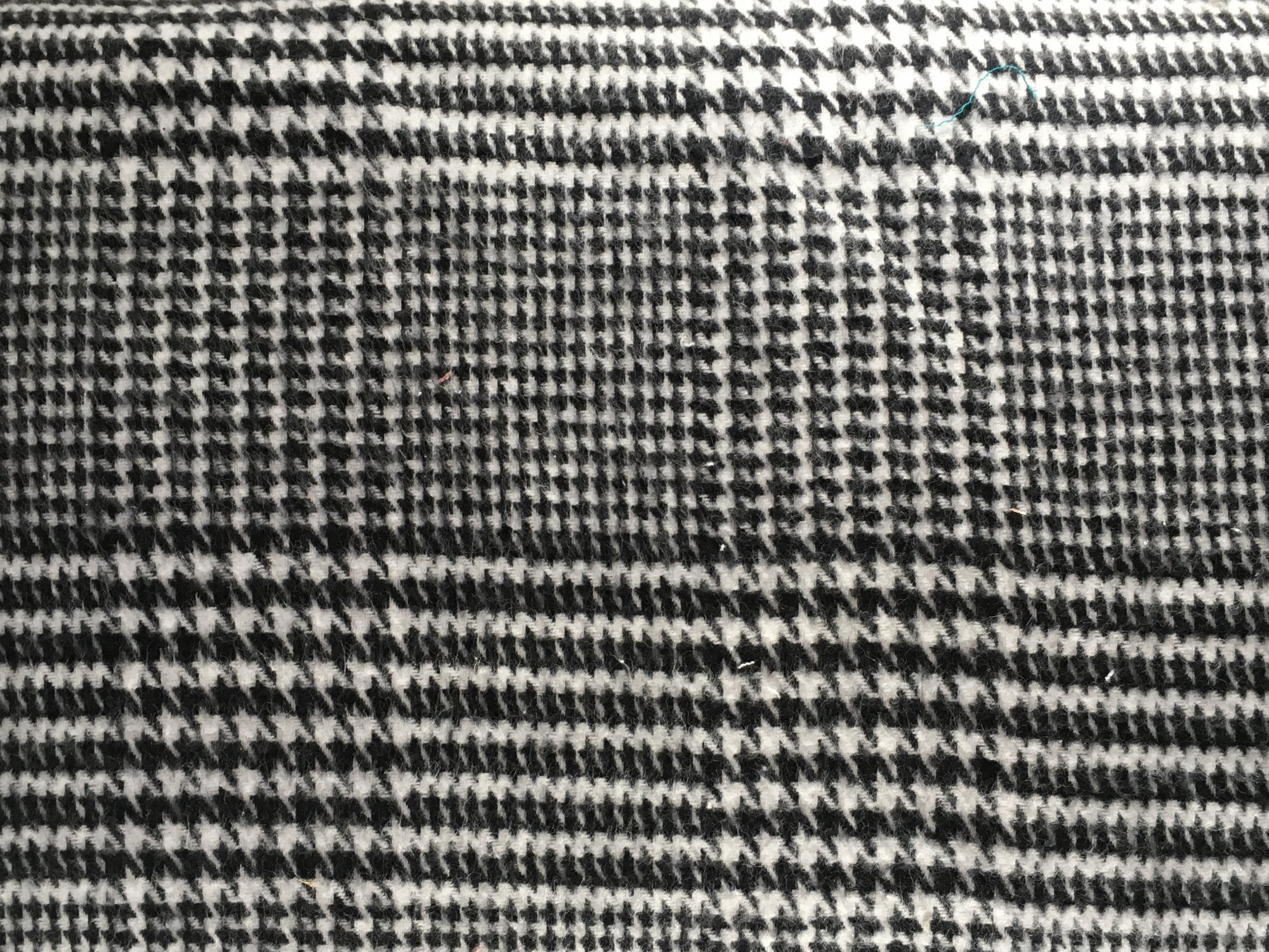 Brushed Plaid Flannel Black and White