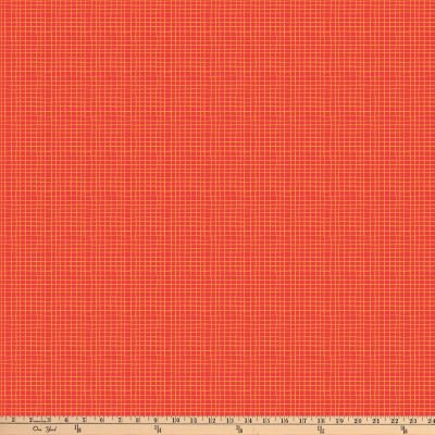Northcott Alphabet Soup Grid Lines Red Fabric